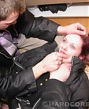 Forced Sex Cute gal polishes the knob of her kinky boyfriend! His huge instr...